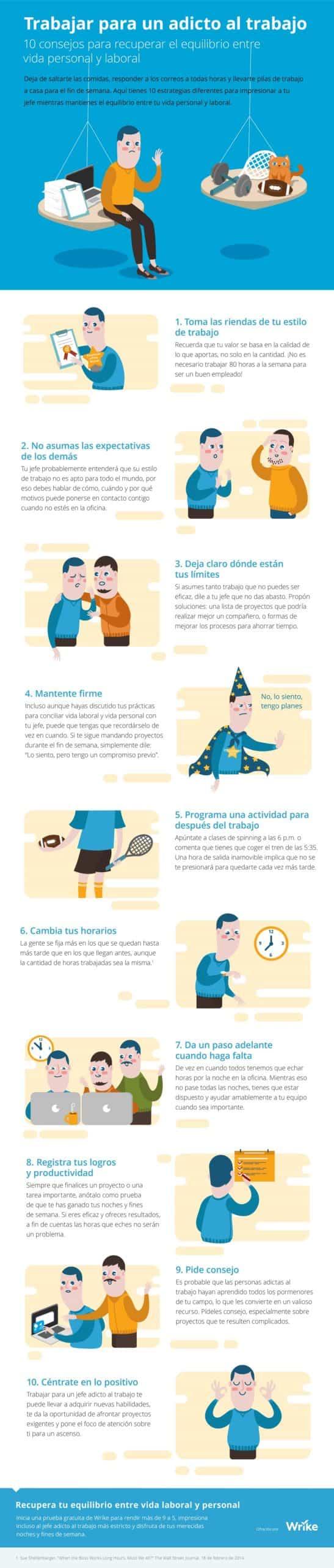 Trabajar para un adicto al trabajo: 10 consejos para recuperar el equilibrio entre tu vida laboral y personal