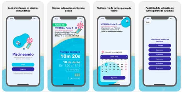 Piscineando, la app para gestionar el aforo y los turnos de baño 2