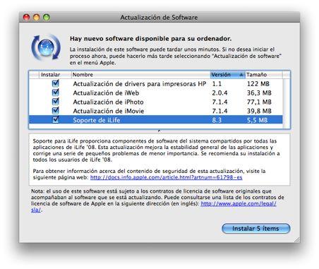 Actualización de software para iLife 3