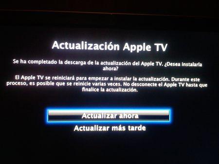 actualizacion AppleTV