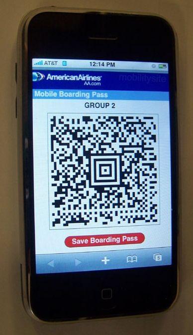 iPhone, tarjeta de embarque