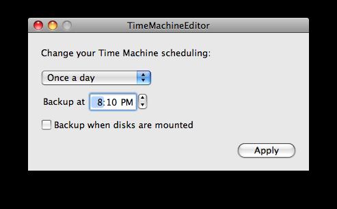 TimeMachineEditor 1.2, cambia el intervalo de las copias de seguridad en Time Machine 3