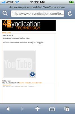 iPhone OS 2.0 soportará videos de YouTube embebidos en una web 3