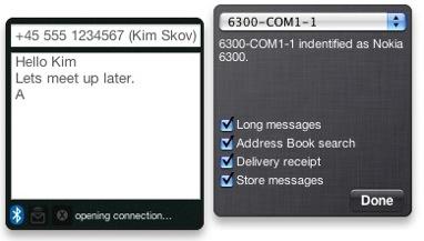 Widget: emitSMS, utiliza tu Mac para enviar SMS por tu móvil 3