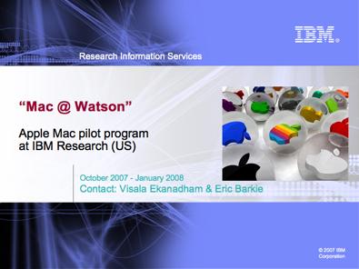 watson report ibm mac