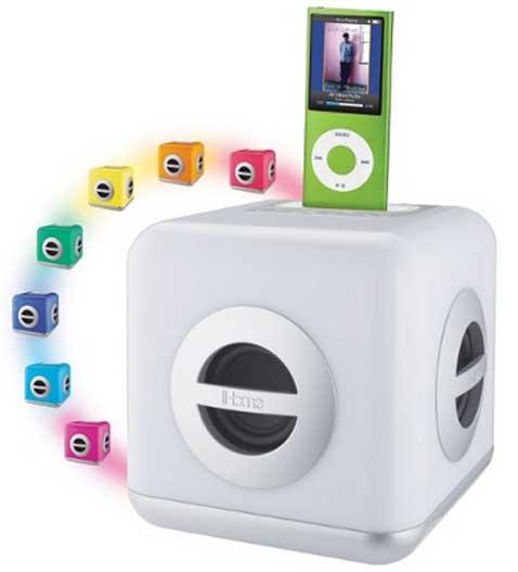iHome iH15W, dock para iPod que cambia de color
