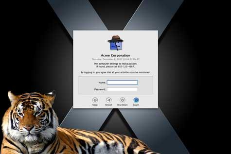 Inicio de Sesión Mac OS X