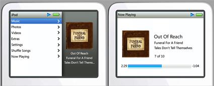 Cambiar la interfaz de un iPod de 5ª generación al de un nuevo iPod 3