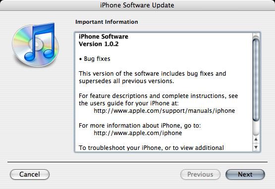 Actualización iPhone