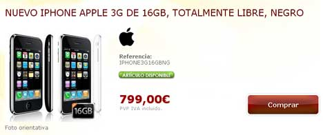 iPhone 3G libre