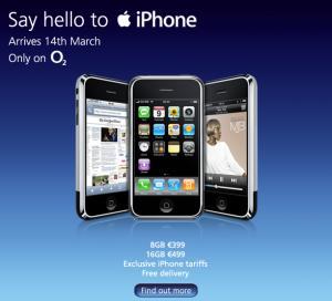 O2 lanzará el iPhone en Irlanda el 14 de Marzo 3