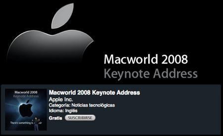 Keynote de la Macworld 2008 disponible en iTunes 3