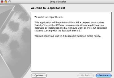 LeopardAssist: Instalar Leopard en Macs que no lo soportan 3