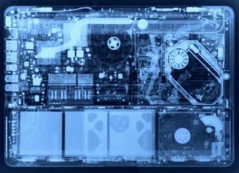 MacBook a través de los rayos X
