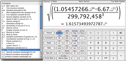 Magic Number Machine, calculadora científica para Mac OS X 3