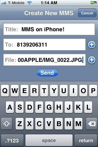 Enviar MMS´s desde el iPhone 3