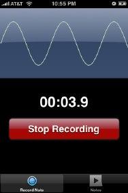 Note2Self - notas de voz en el iPhone