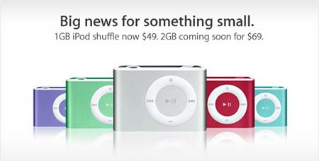 Nuevo iPod Shuffle de 2Gb y rebaja de precio en el de 1Gb 3