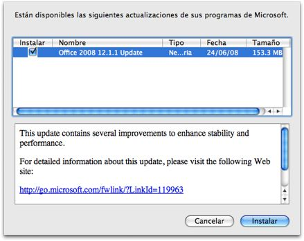 Office 2008 para mac