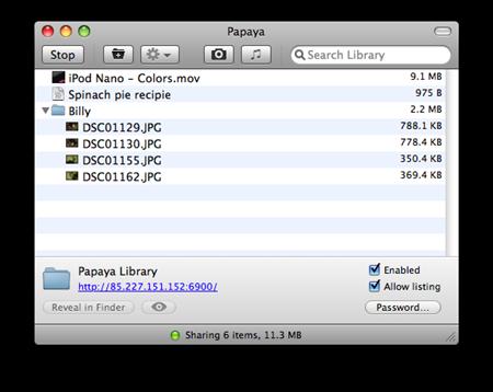 Papaya 1.0, comparte tus ficheros fácilmente 6