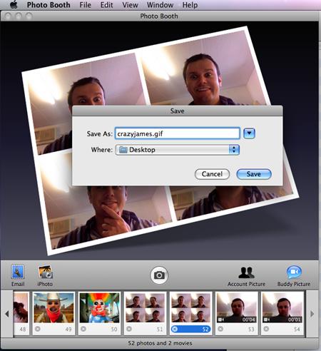 Crear GIF animado utilizando PhotoBooth 3