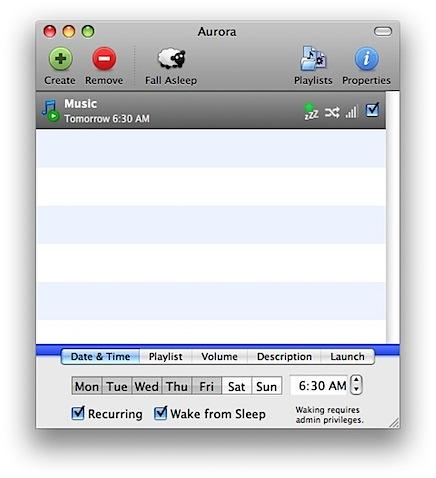 Aurora convierte tu Mac en un despertador 3