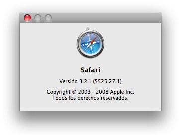Safari 3.2.1