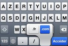 Truco: Escribir .es en el Safari del iPhone o iPod Touch 3